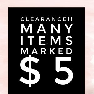 Many items marked $5!!!!